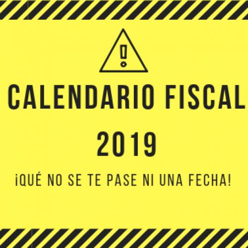 ¡Qué este año no se te pase ni una fecha! Descarga el calendario fiscal 2019 para autónomos